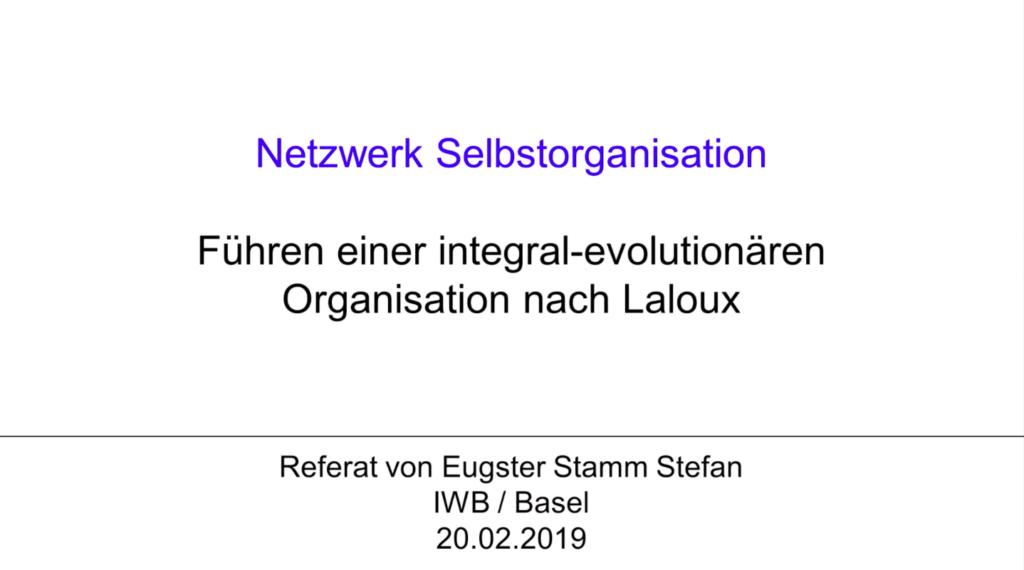 V0 Führen einer integral-evolutionären Organisation nach Laloux