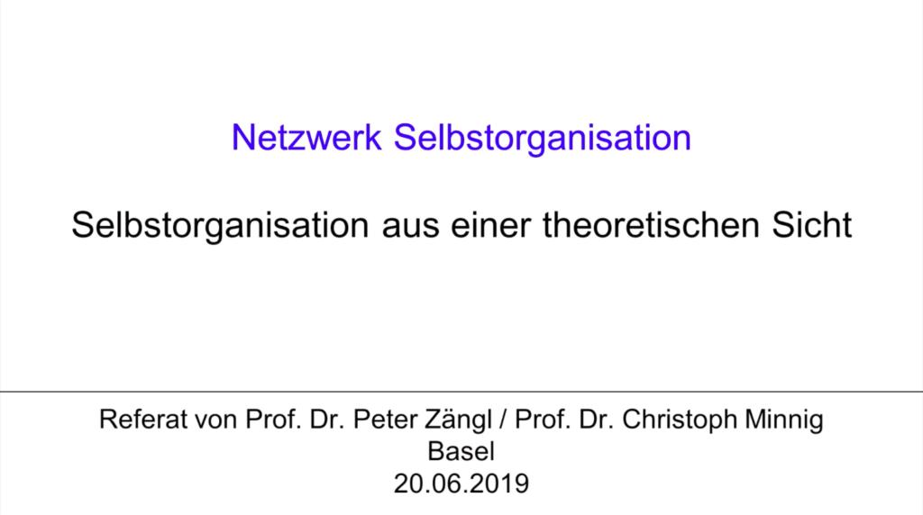 V1 Keynote 3: Selbstorganisation aus einer theoretischen Sicht