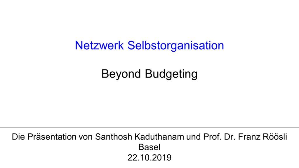 V2 Keynote 1: Beyond Budgeting