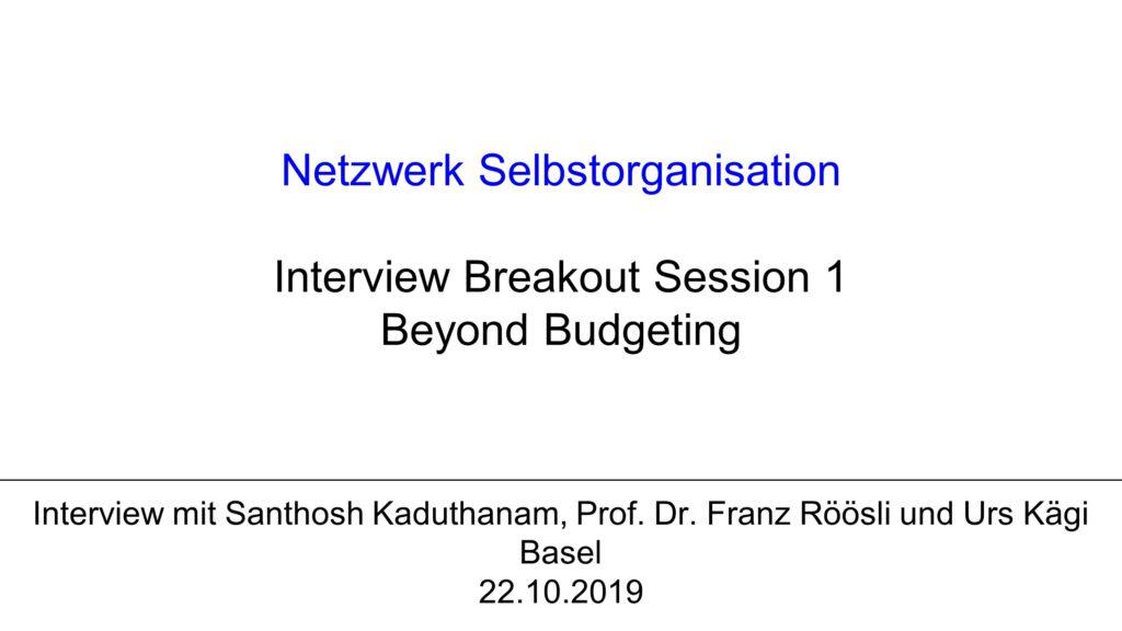 V2 Interview mit Prof. Dr. Franz Röösli und Santhosh Kaduthanam zu Beyond Budgeting